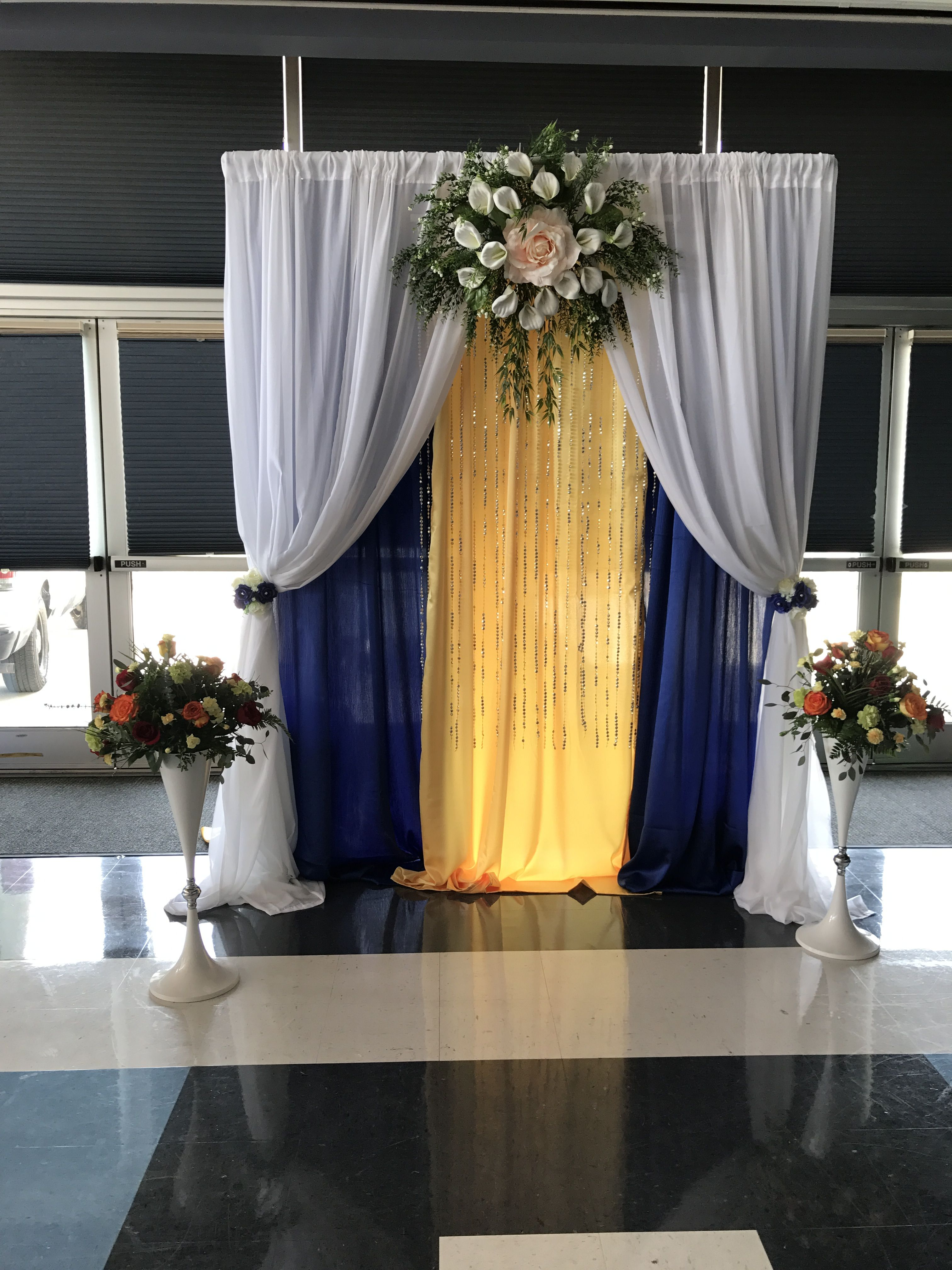 Royal Blue Wedding Backdrop Royal Blue Wedding Wedding Backdrop