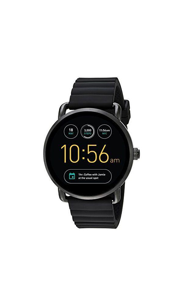 255 Fossil Q Wander Gen 2 Touchscreen Black Silicone Smartwatch Watch Digital Watch Timepiece Business Fossil Q Wander Smart Watch Smart Watch Android