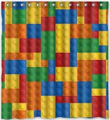 Fashionable Design Colorful Lego Blocks Pattern Waterproof