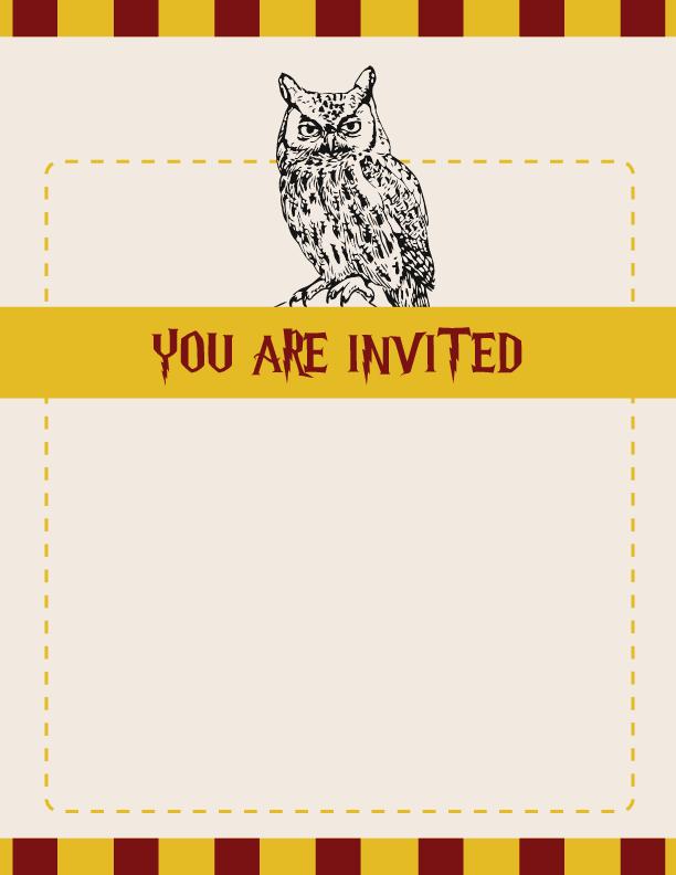 Harry Potter Party Invitation Harry Potter Party Harry Potter