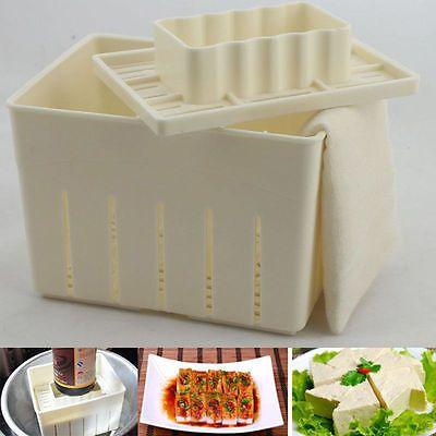 Cheese Cloth DIY Soy Pressing Mould Kitchen Tool^9UK Tofu Maker Press Mold Kit