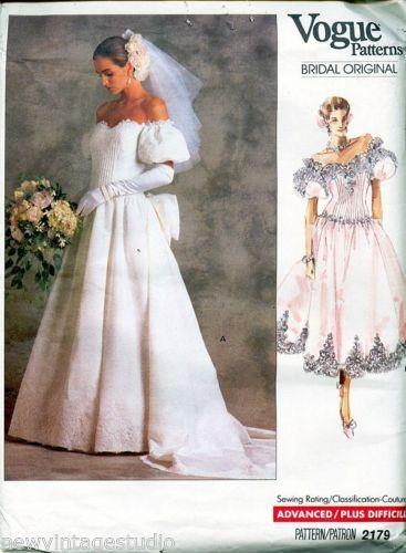 Vogue-Bridal-Original-2179-1988-Gorgeous-Misses-Bridal-Dress-SZ-8 ...