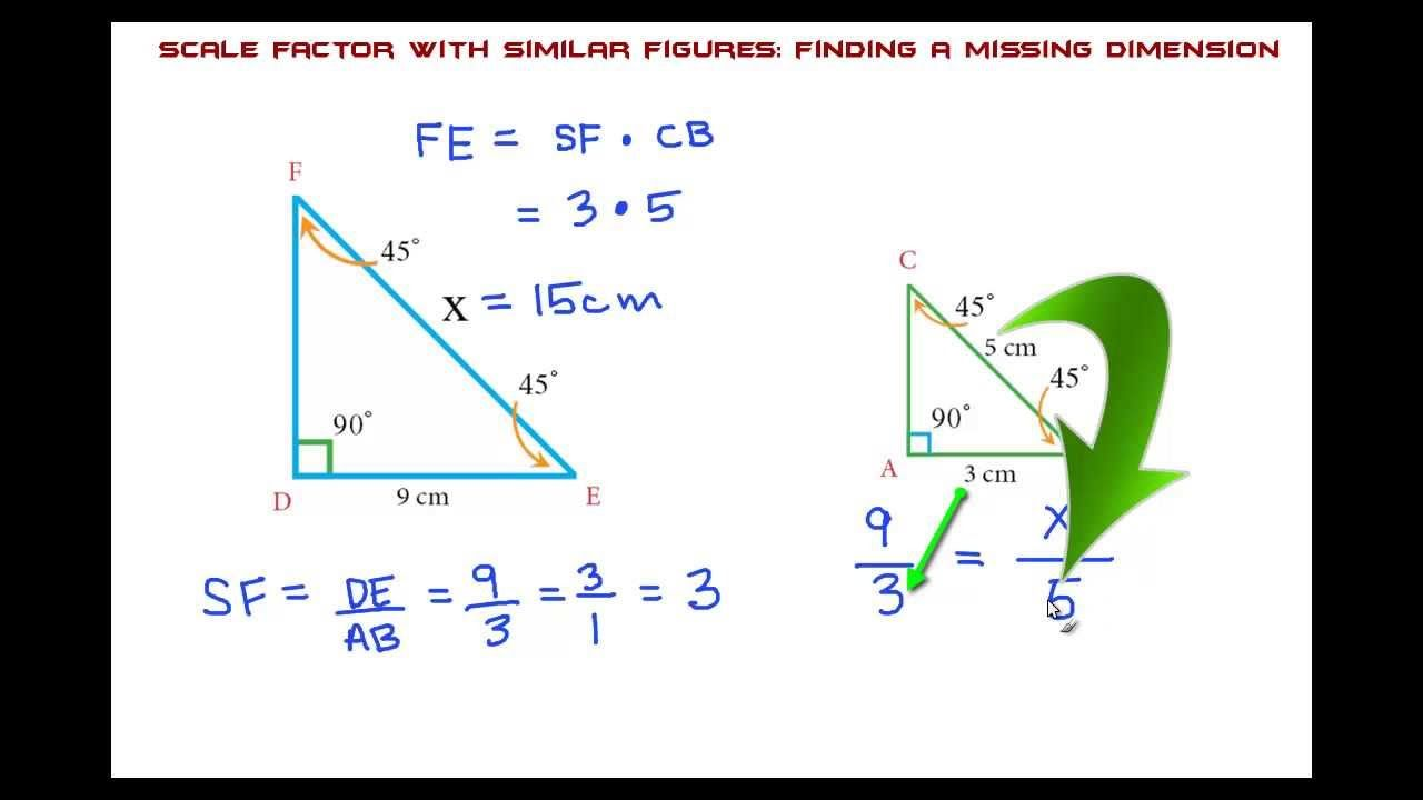 Scale Factor with Similar Figures: THE EASY WAY!   Education math [ 720 x 1280 Pixel ]