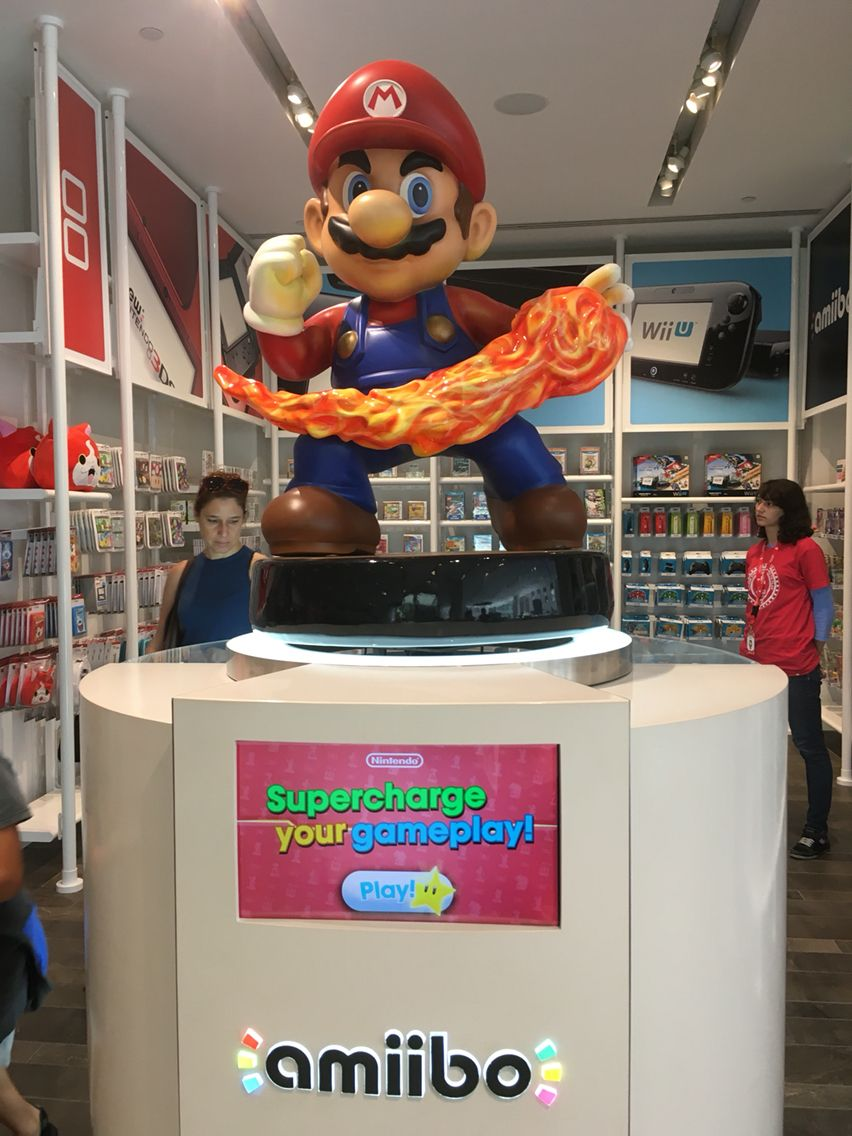 Mario From The Nintendo Shop In New York City