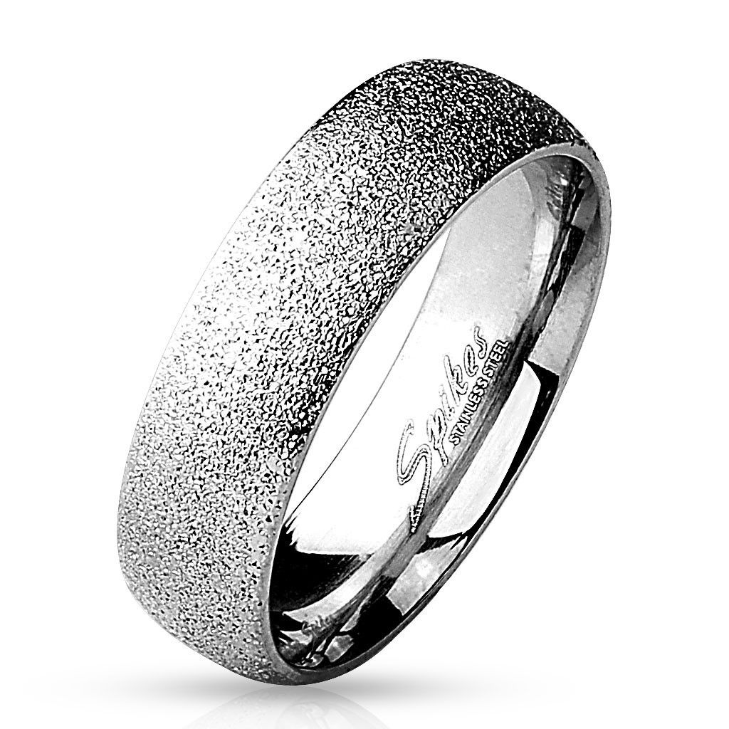 6mm Sand Sparkle Finish Dome Surface 316L Stainless Steel Wedding