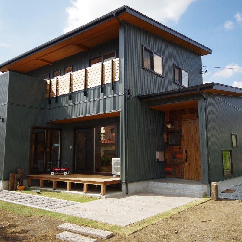 外観 ガルバリウム鋼板 マイホーム 外観 住宅 外観 ホームウェア