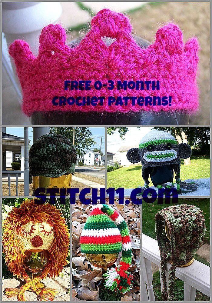 0-3 Month Free Crochet Patterns | Crochet | Pinterest | Patrones ...