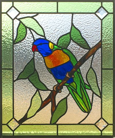 Rainbow Lorikeet Leadlight Glass Window Art Stained Glass Patterns Free Stained Glass Patterns