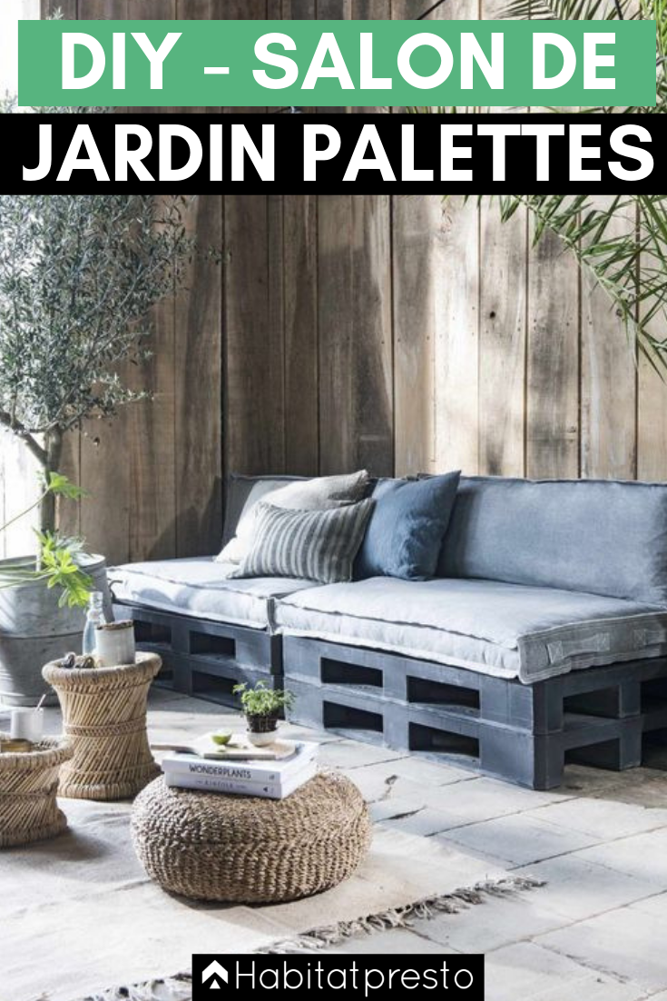 Salon de jardin en palettes : 17 idées déco originales  Salon de
