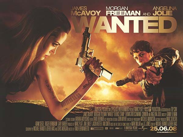 WANTED movie poster (With images) | Wanted movie, Action movies ...