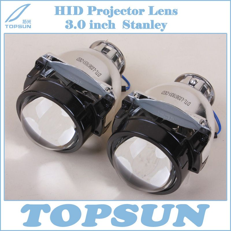 Free Shipping 3 0 Inch Stanley Auto Headlight Projector Lens With Excellent High Low Beam Fit For H7 H9 D1s D2s Projector Lens Hidden Projector Car Headlights
