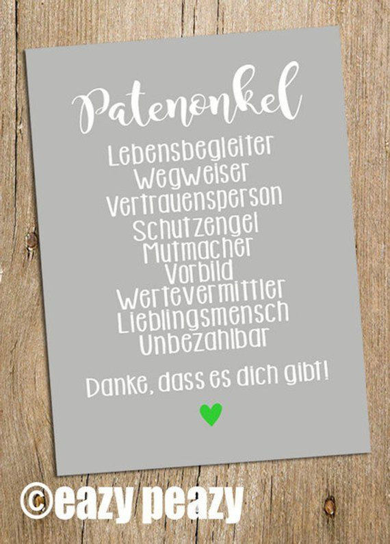 Patenonkel Postkarte Kommunion Taufe Feier Ideen Zur