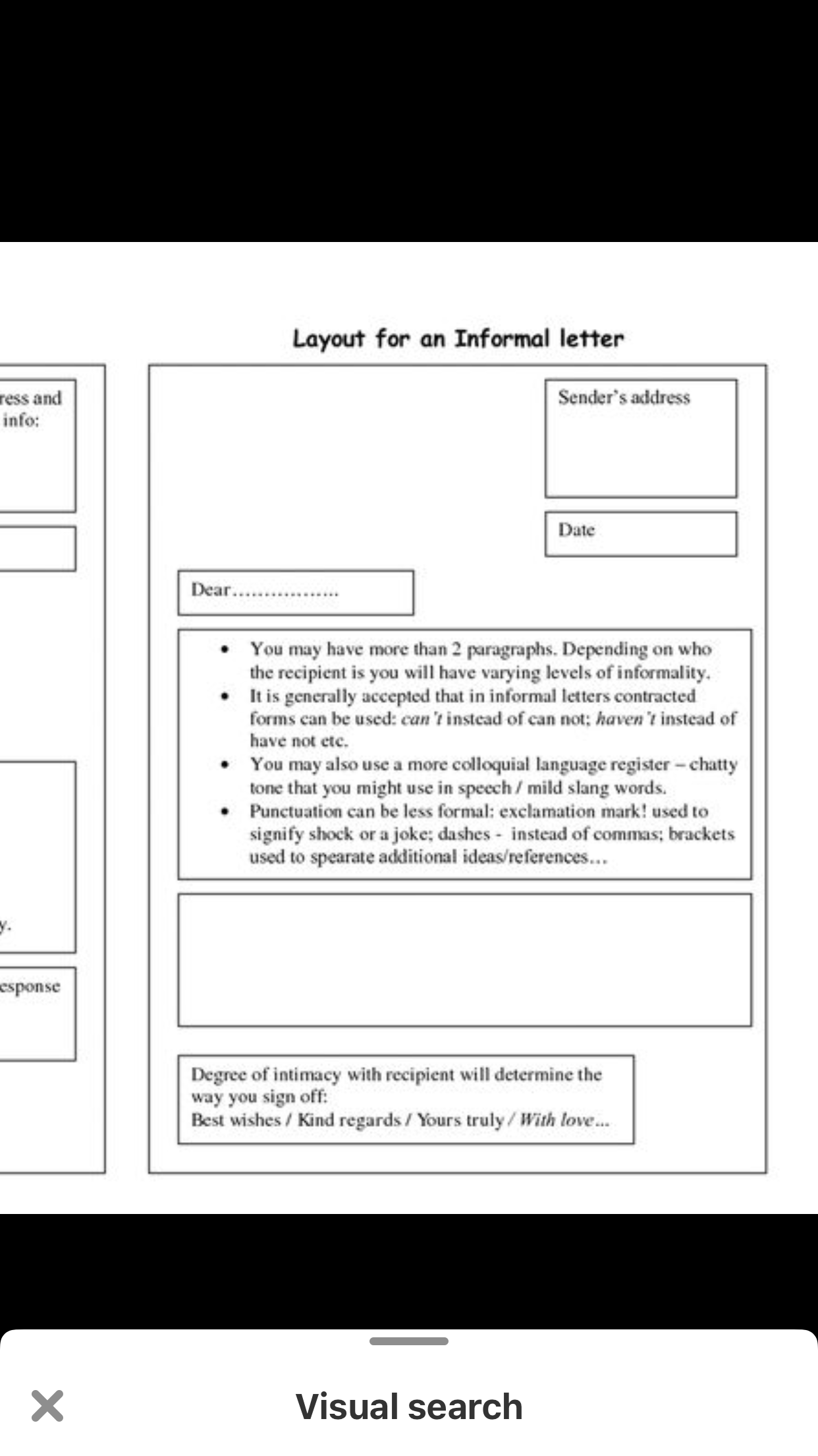 Informal letter format Lettering, Letters, Layout