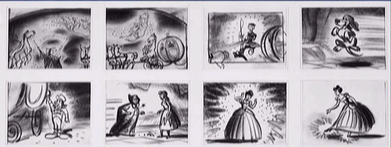 Cinderella storyboard disney storyboards Storyboard film