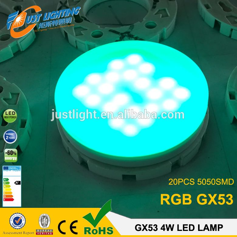 New Producut 4w Rgb Gx53 Led Bulb 20pcs 5050smd 220 350v Ac Led Bulb Led Poker Table