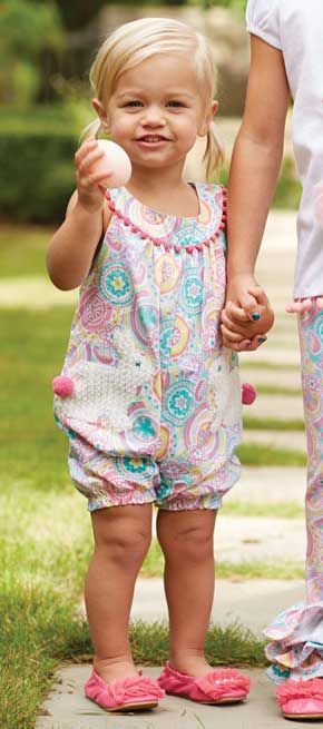 777e76a8a This whimsical bunny pocket romper will bring some spring appeal to your  baby and infant girls