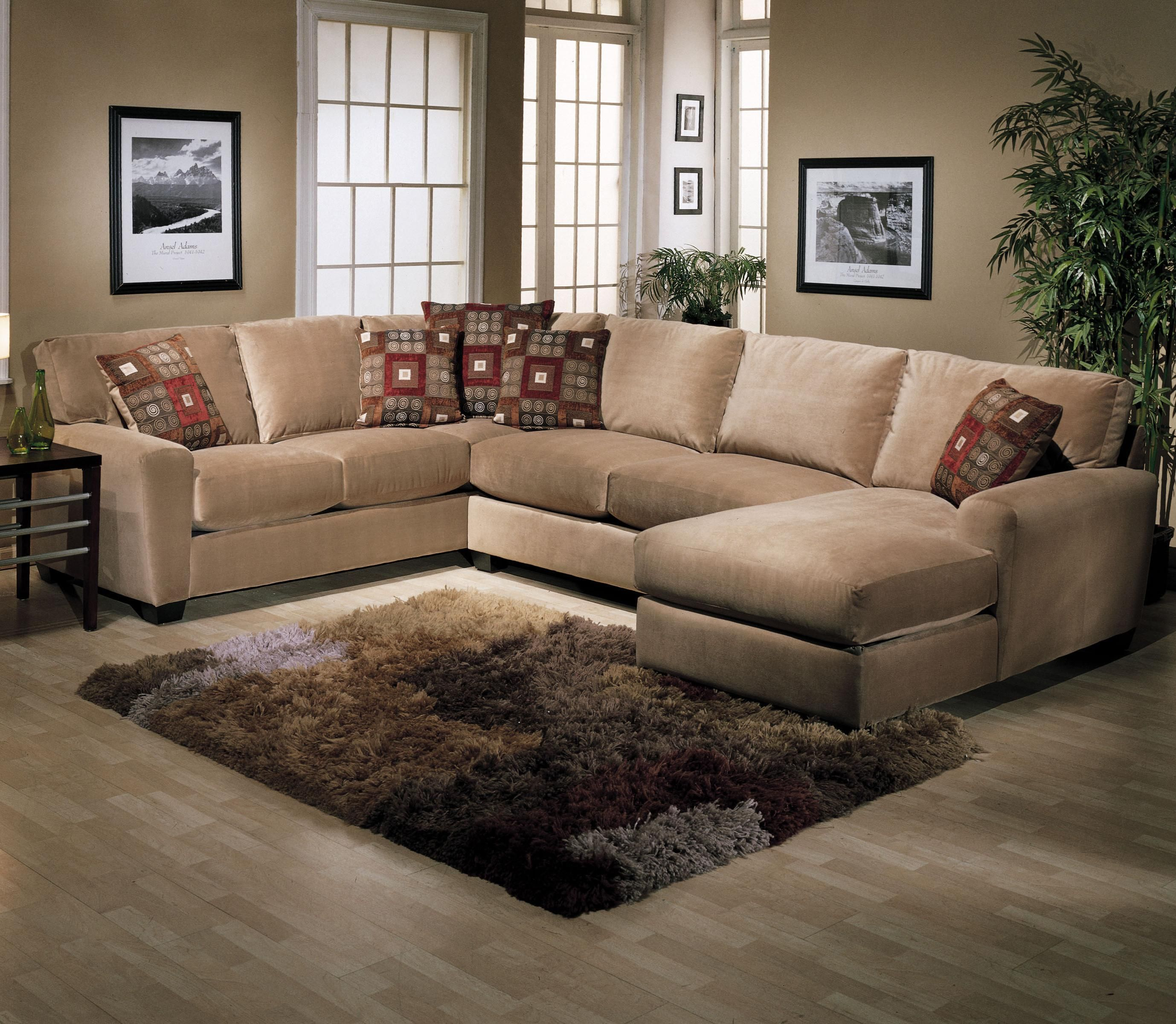 living room with l shaped sofa beck s furniture benson l shape sectional with chaise 26216