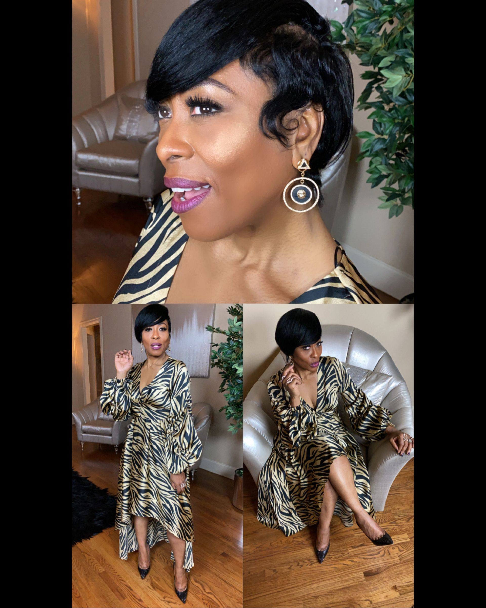 Boss Out All 2020 With Grittysoul 18k Gold Quiet Storm Mini Vinyl Record Earrings Golden Zebra Hi Low Dress In 2020 Hi Low Dresses Vinyl Records Vinyl