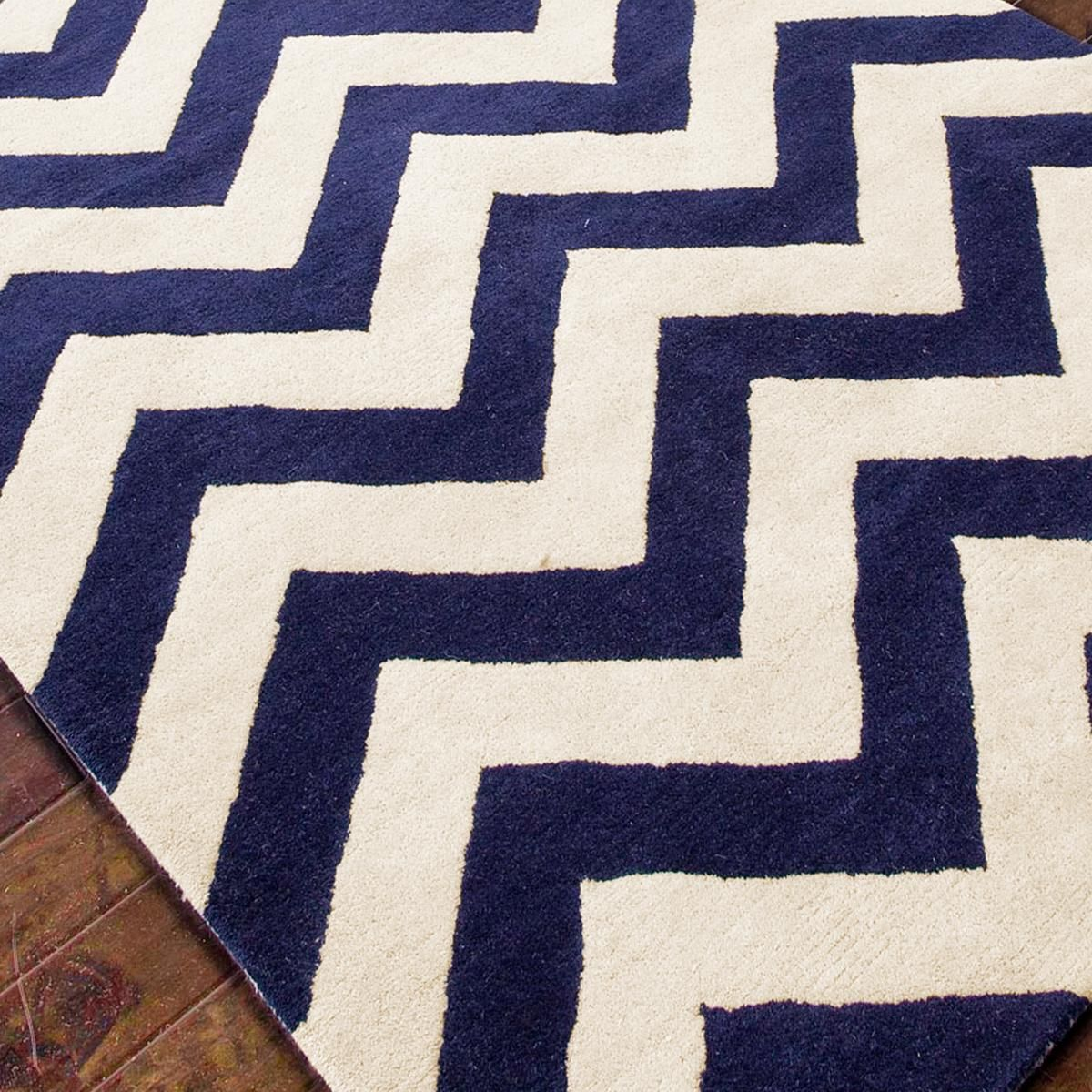 Plush Wool Chevron Rug Navy Or Gray Perfect For My Dinning