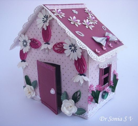 Cards ,Crafts ,Kids Projects: Recycling Craft- Doll House Making Tutorial