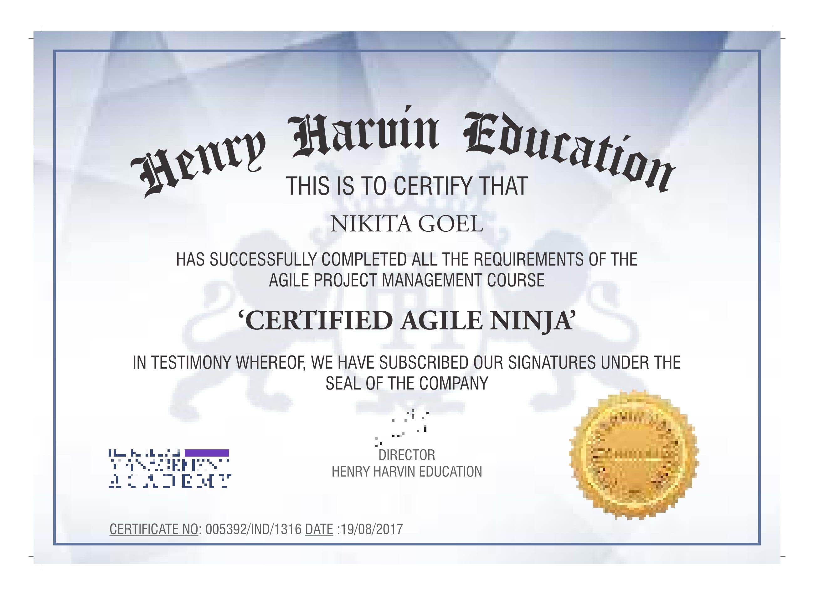 Agile Project Management Training Certification Program By Henry