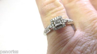 Beautiful Petite Princess Cut & Round Diamond Ring 10k White Gold Size 7  https://t.co/s7VWKmEMBN https://t.co/OD2eZzaS2l