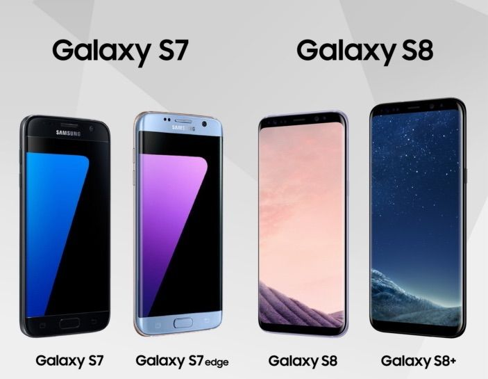 Galaxy S7 vs Galaxy S8 vs Galaxy S7 edge vs Galaxy S8 Plus