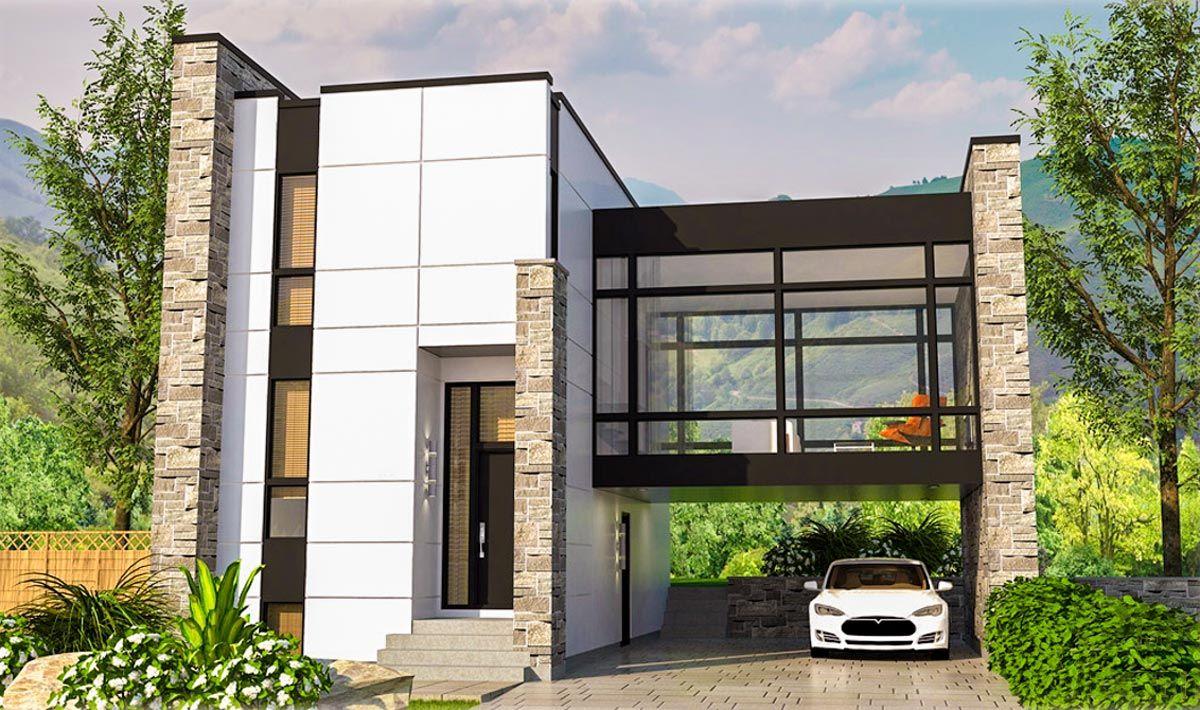 Fun house Striking Modern House Plan