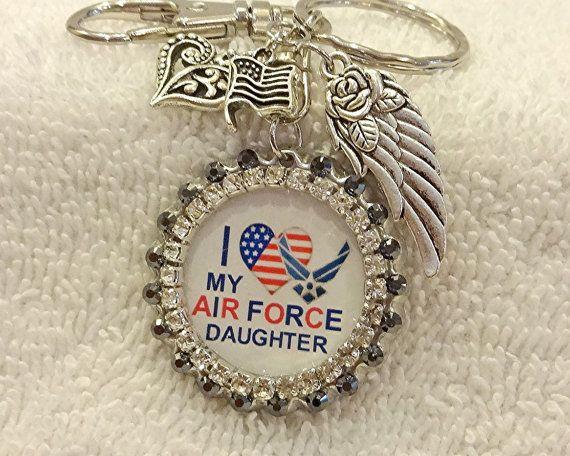 USAF Daughter Keychain Purse Charm f10f482ed