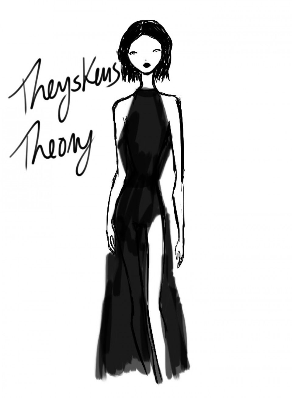 Artist Rei Nadal sketches live from the Theysken's Theory show - New York Womenswear S/S 2013 - SHOWstudio - The Home of Fashion Film