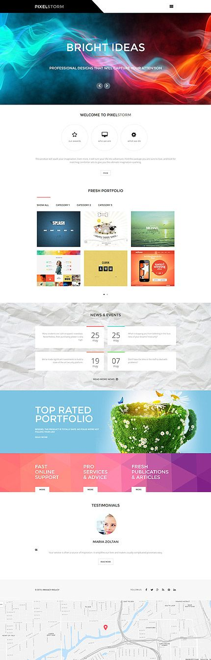 Template 55972 - Pixel Storm Responsive WordPress Theme | Creative ...