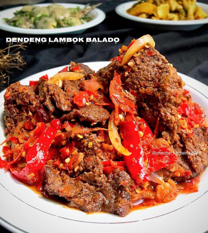 Dendeng Lambok Balado Bahan Resep Masakan Pedas Makan Malam Resep