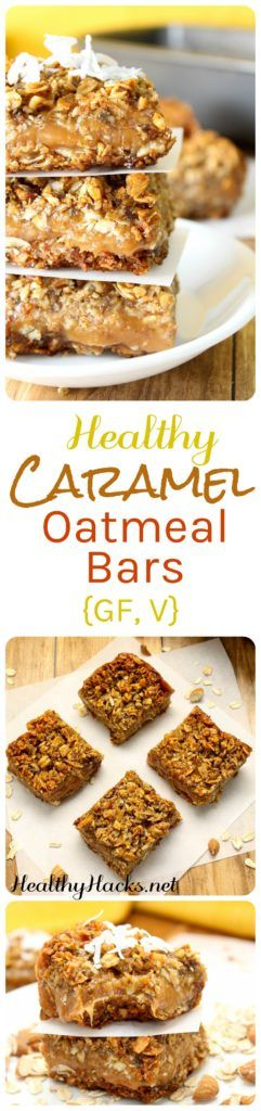 Healthy Caramel Oatmeal Bars   Gluten Free, Vegan, Soy Free, and DELICIOUS!