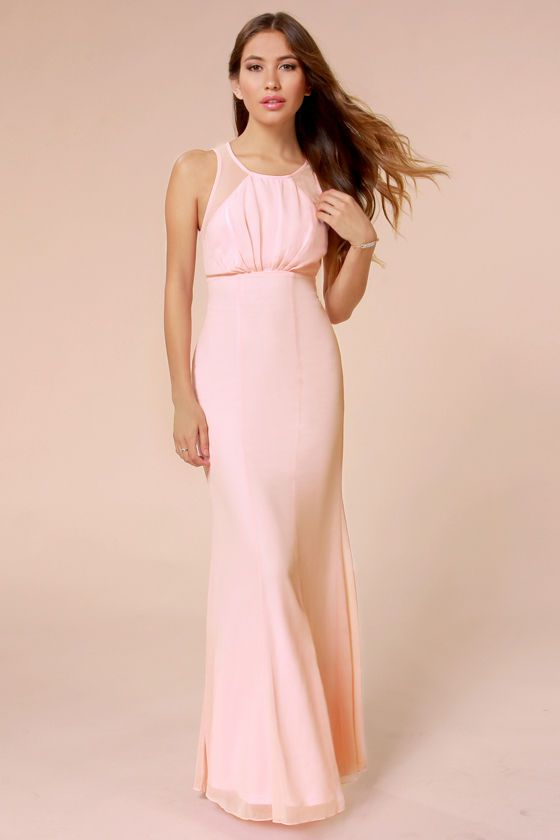 Pink maxi dresses weddings