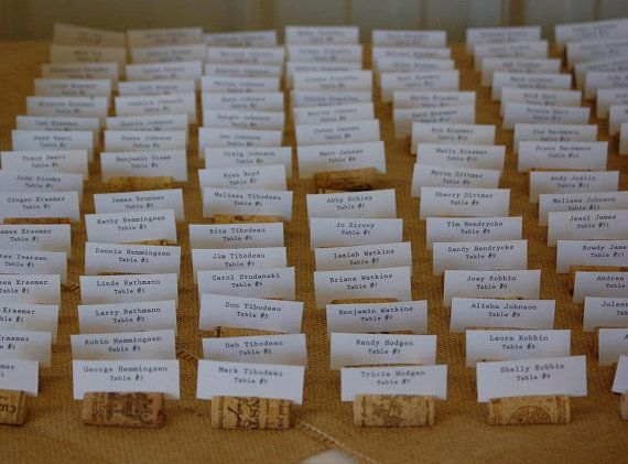 100 Rustic Wine Cork Place Card Holders For Vineyard Wedding Or Party