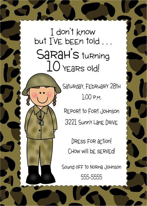 Camouflage Military Or Army Birthday Invitations By PMCInvitations