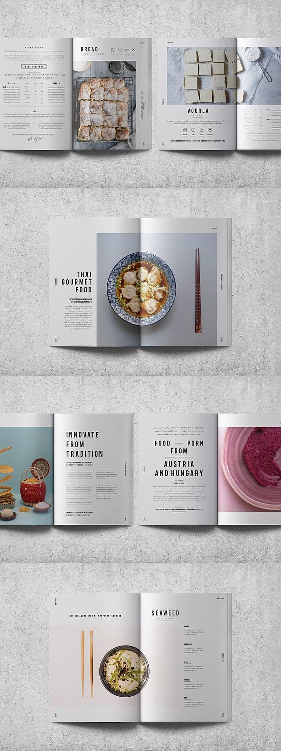 InDesign Cookbook / Recipe Book Template #cookbook