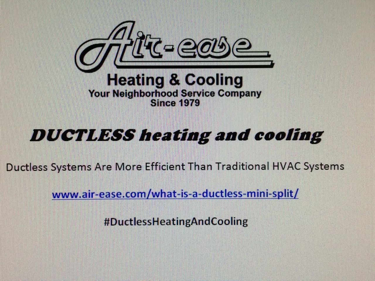 Ductless Heating And Cooling Works Great And Looks Great We Use Line Hide To Enhance The Outdoor Appearance And Heating And Cooling Ductless Heating Ductless