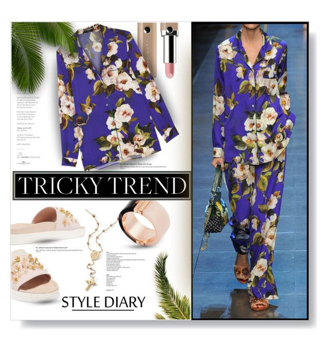 """Slip On The Satin..."" by desert-belle ❤ liked on Polyvore featuring Marc Jacobs, Dolce&Gabbana, Palm Beach Jewelry, Michael Kors, TrickyTrend, michaelkors, dolceandgabbana, polyvoreeditorial and SIMONEROCHAS"