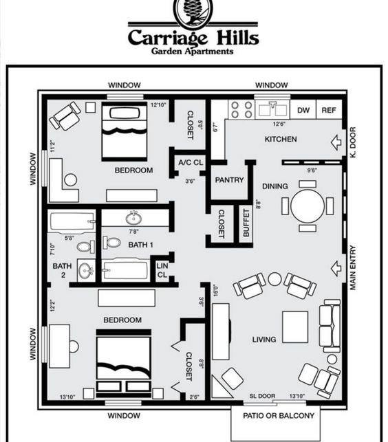 2 Bedroom Apartment Near Me Rent: 7 Ideal Small House Floor Plans Under 1,000 Square Feet