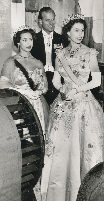 Prince Phillip & Queen Elizabeth with the queen's sister