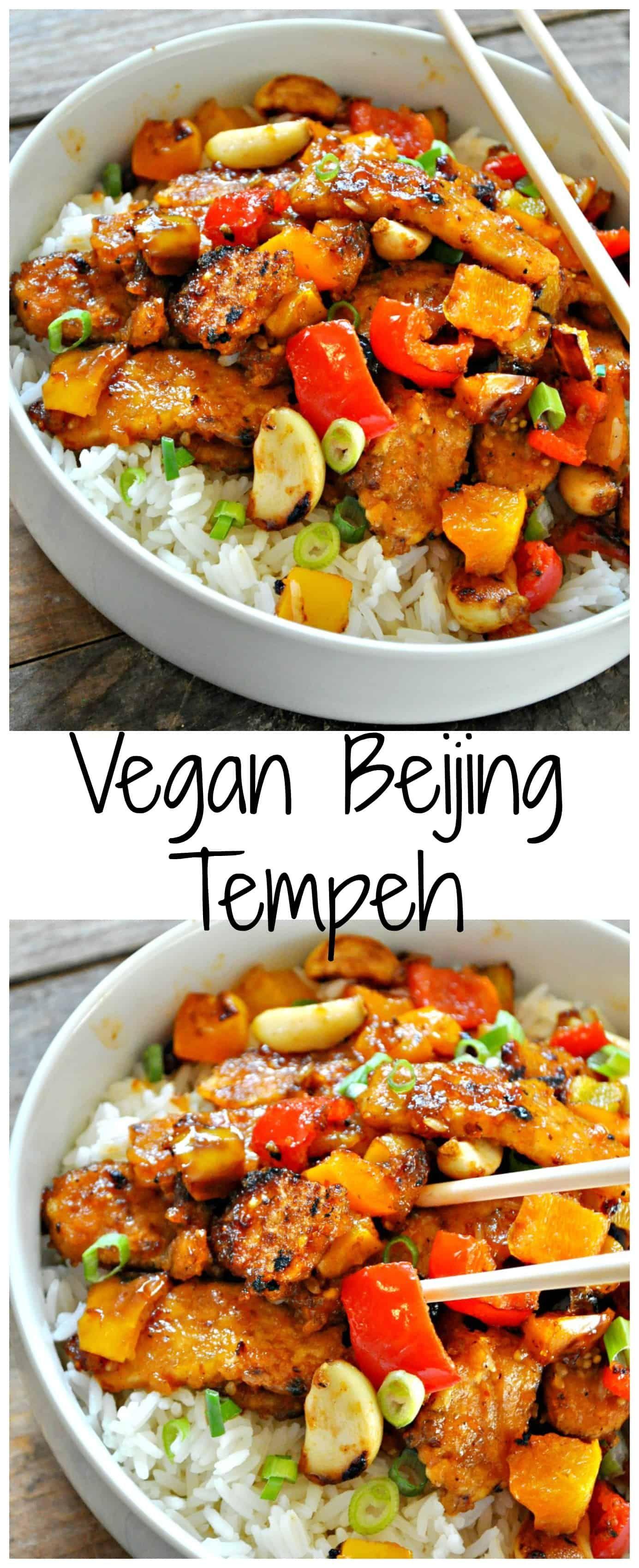 Vegan Beijing Tempeh Recette Cuisine Vegetarienne Plat
