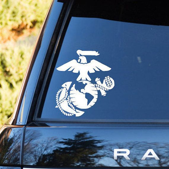 Marine Corps Car Decal Large 5 5 Usmc Vinyl Decal For Car Window Large Military Car Decals United States Military Stickers For Cars United States Marine Corps Car Sticker