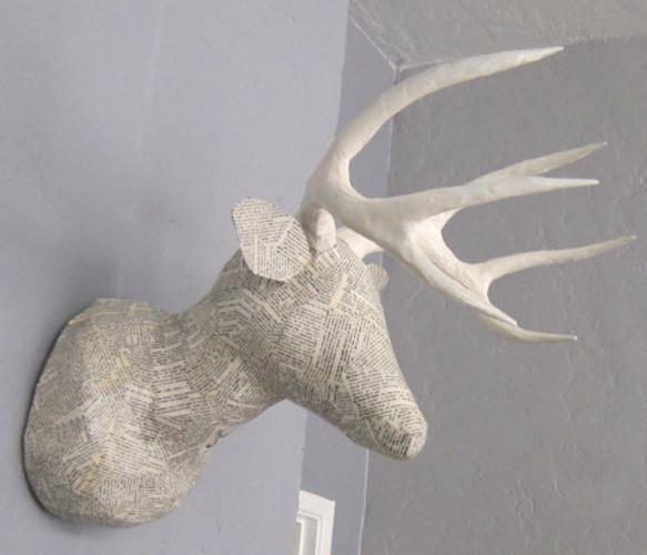 Faux Taxidermy Deer Heads