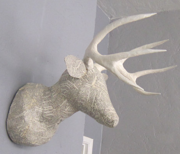 Faux Taxidermy Deer Heads By Roycehunt Hand Crafted Paper Mache