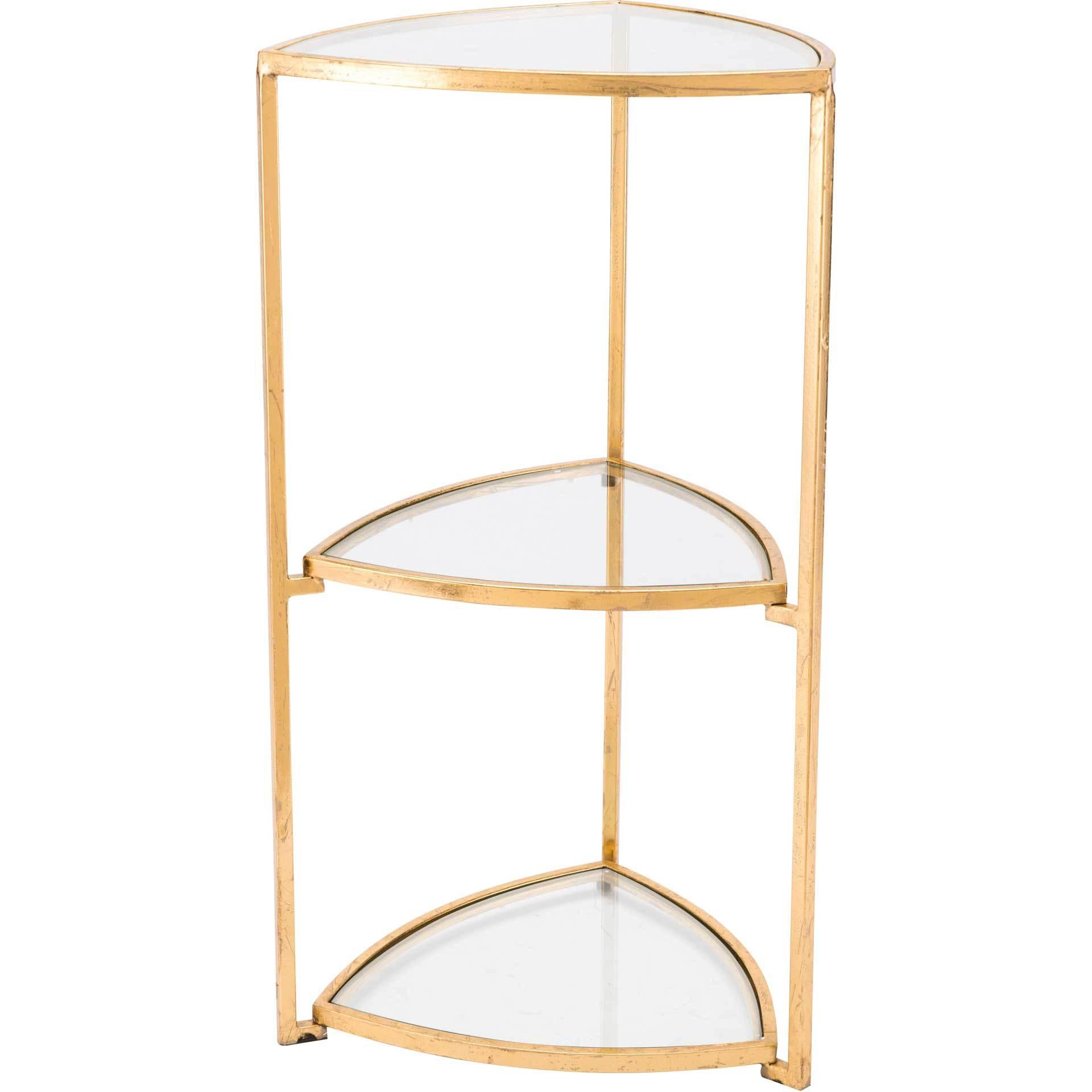 Corner Tri Level Table Gold | Corner accent table, Corner ...