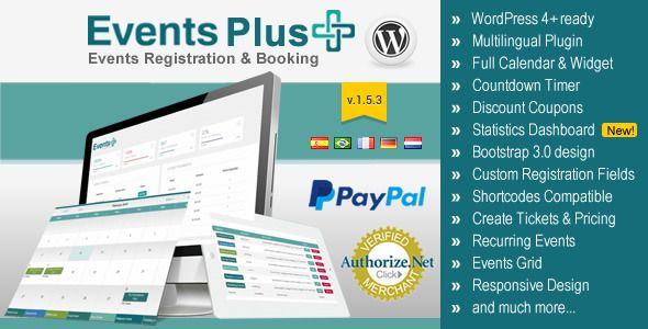 WordPress Events Calendar Registration  Booking v153 Web