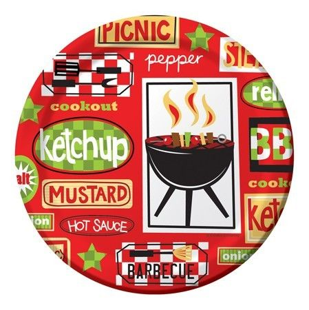Chill and Grill BBQ 9 inch Paper Plates BBQ Party Supplies  sc 1 st  Pinterest & Chill and Grill BBQ 9 inch Paper Plates BBQ Party Supplies ...
