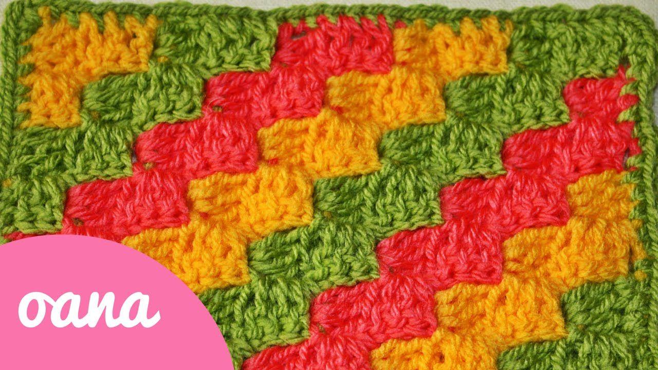 lavorazione da un angolo all\'altro all\'uncinetto I | Crochet Videos ...