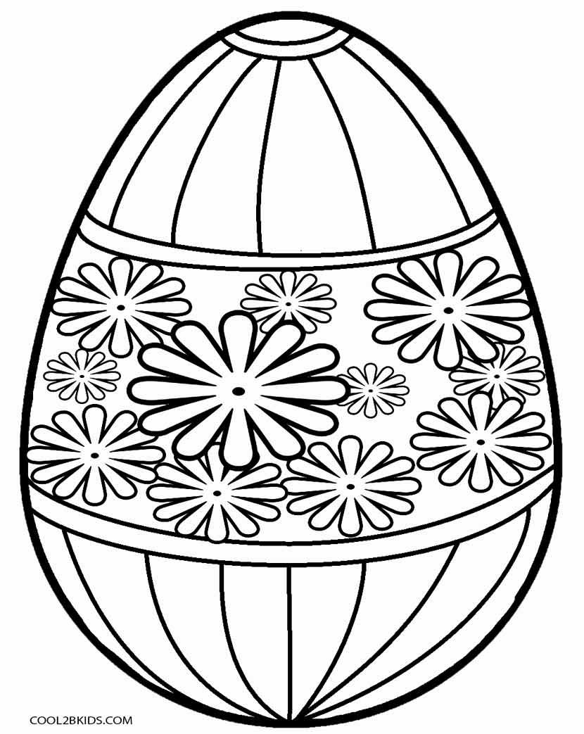 Printable Easter Egg Coloring Pages For Kids | Cool2bKids ...